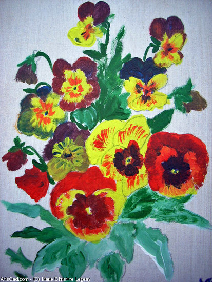 Artwork >> Marie Christine Legeay >> VASE OF FLOWERS