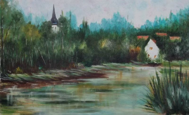Artwork >> Charles Lepeintre >> cappy and its bell tower