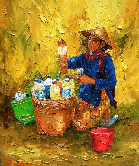 Artwork >> Asep Leoka >> Jamu Seller