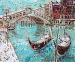Aimé Venel - gndoles the rialto bridge