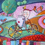 Catherine Suchocka - up in bicycle