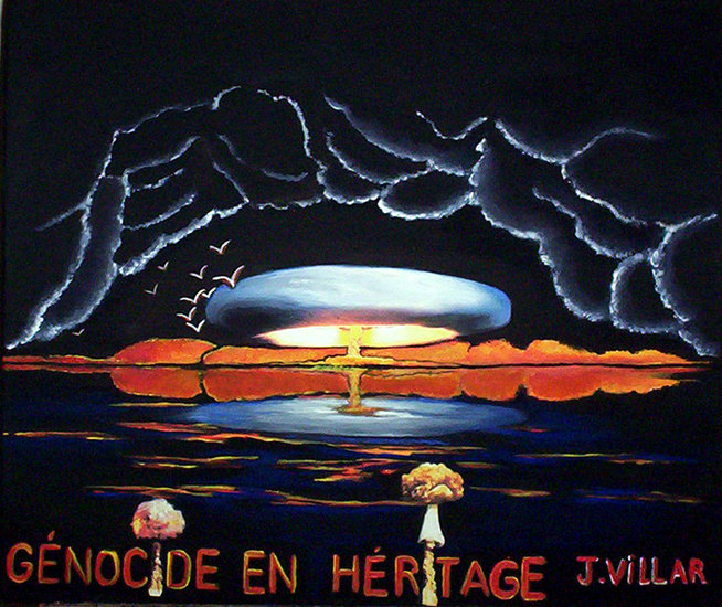 Artwork >> Julie Del Ama >> Genocide up in  inheritance