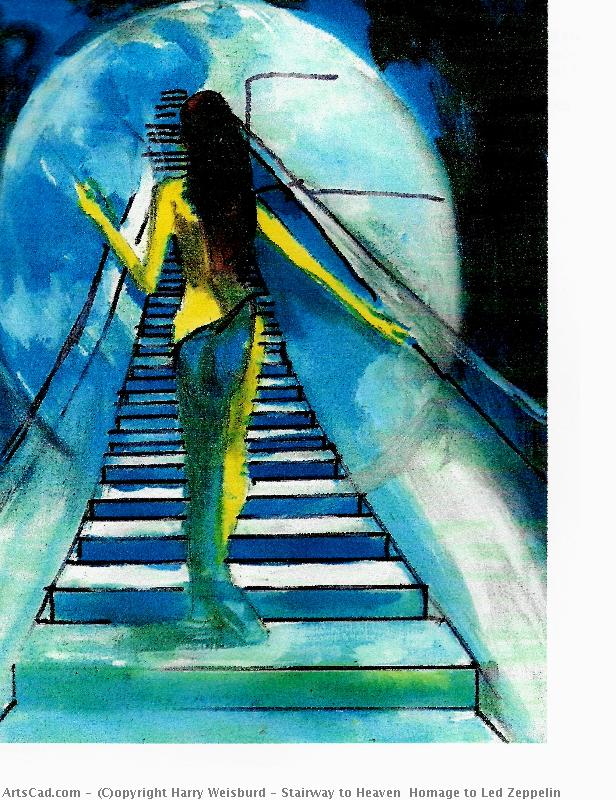 Artwork >> Harry Weisburd >> Stairway to Heaven  Homage to Led Zeppelin