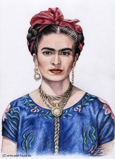 Artwork >> Arts And Dogs >> Hommage to Frida Kahlo