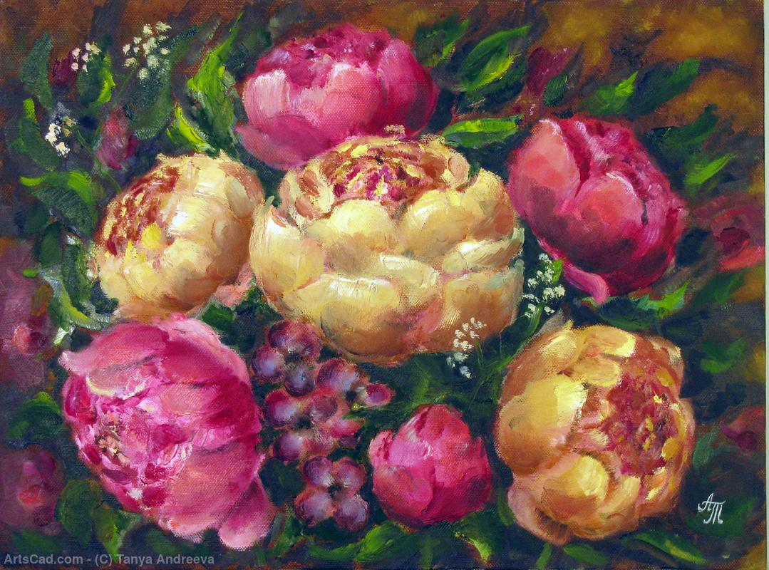 Artwork >> Tanya Andreeva >> oil painting peonies