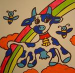 Marie C. Cudraz - 10-2006 - IN THE CLOUDS - POP-ART - COW