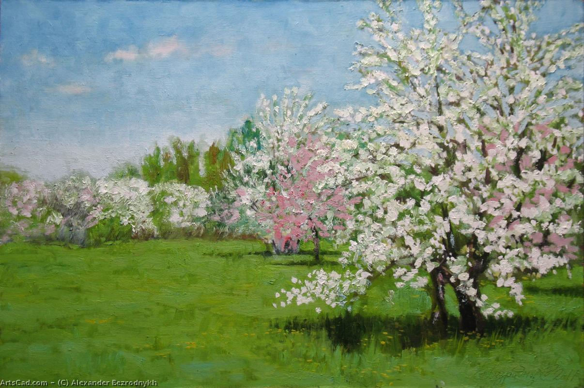 Artwork >> Alexander Bezrodnykh >> Spring is An Apple Orchard