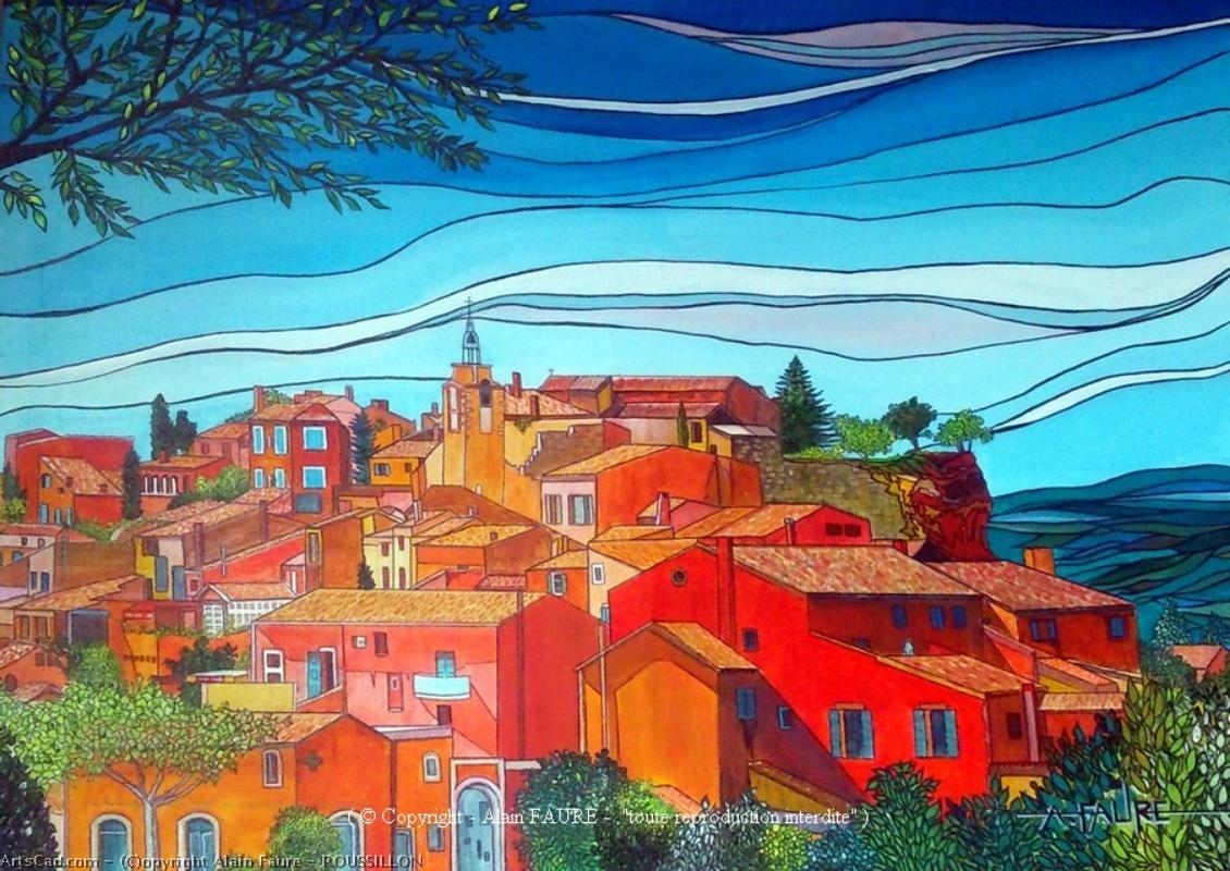 Artwork >> Alain Faure >> ROUSSILLON