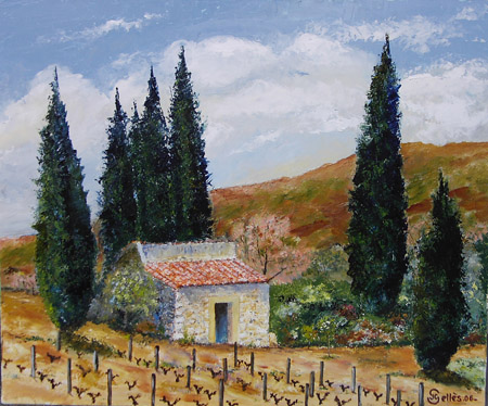 Artwork >> Jean-Claude Selles Brotons >> casot of the fourn near the Limoux ( Aude )