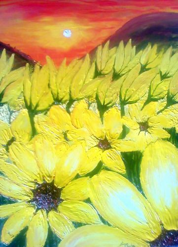 Artwork >> James E. Dunbar >> African Yellow Daisies