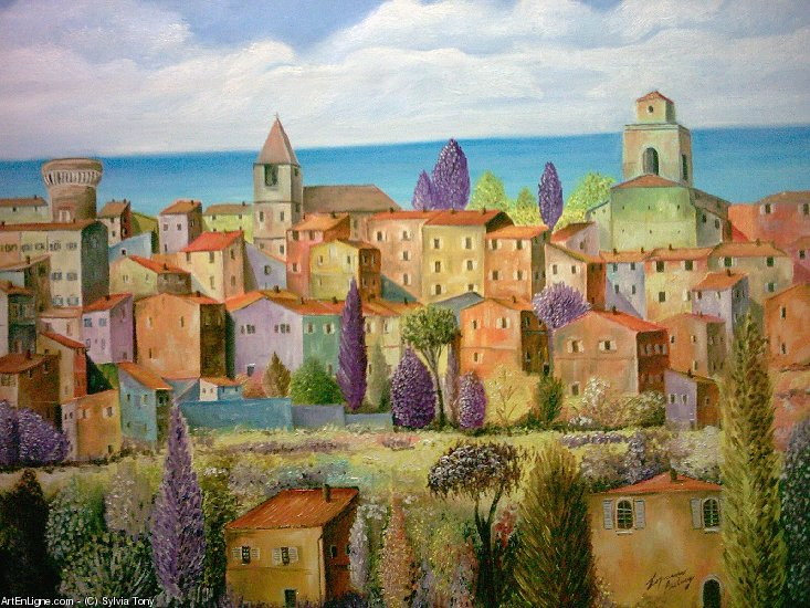 Artwork >> Sylvia Tony >> Landscape of Provence coined