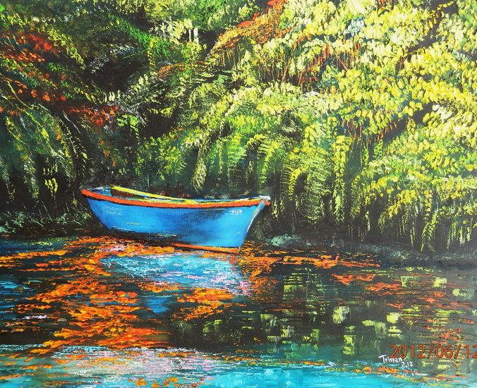 Artwork >> Hoareau Tristan >> Blue boat