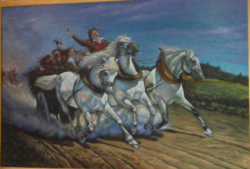Artwork >> Naser Gallery >> The carriage and horses