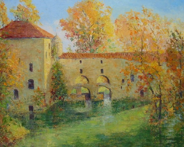 Artwork >> Jacques Fontan >> The mill loubens