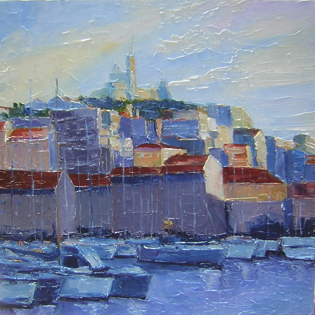 Artwork >> Jaune Indigo >> MARSEILLE BY COMPLETION d'Après noon - Sold