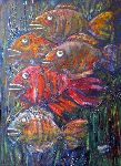 Ahmedov Zakir - .Fish 2016yea 27X19in original painting oil on canvas 3000$