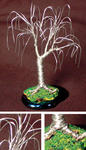 Sal Villano Wire Tree Sculpture - OAK BONSAI  - Mini Wire Tree Sculpture