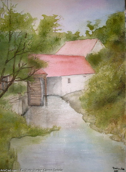 Artwork >> Marie-Martine Classe-Trélaün >> The mill the chautay