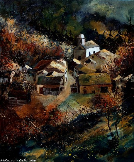 Artwork >> Pol Ledent >> Autumn at Frahan