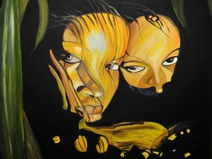 Artwork >> Land Of Memories Afrique >> The Two Sisters