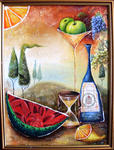 Юлия Ионова - -Still Life with Watermelon-