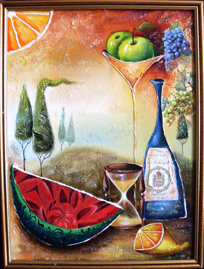 Artwork >> Юлия Ионова >> 'Still Life with Watermelon'