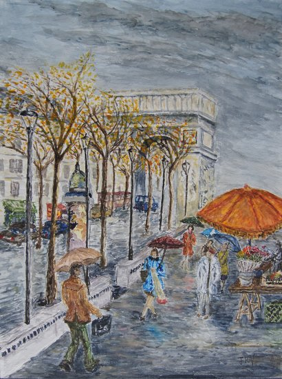 Artwork >> Aquarêve De Régis Veillerot >> Great Parisian avenue