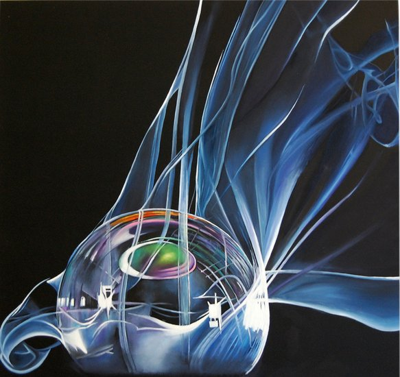 Artwork >> Marie-Claire Houmeau >> planet up in  smoke
