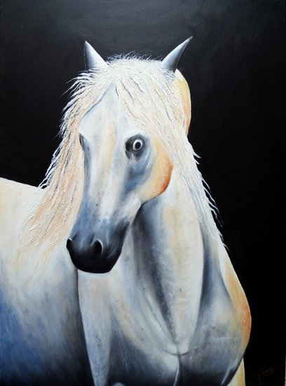 Artwork >> José Soria >> White Horse