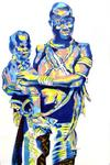 René Girot - African Woman up and  its  kid