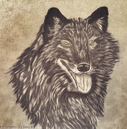Artwork >> Tracy Bell >> The Black Wolf