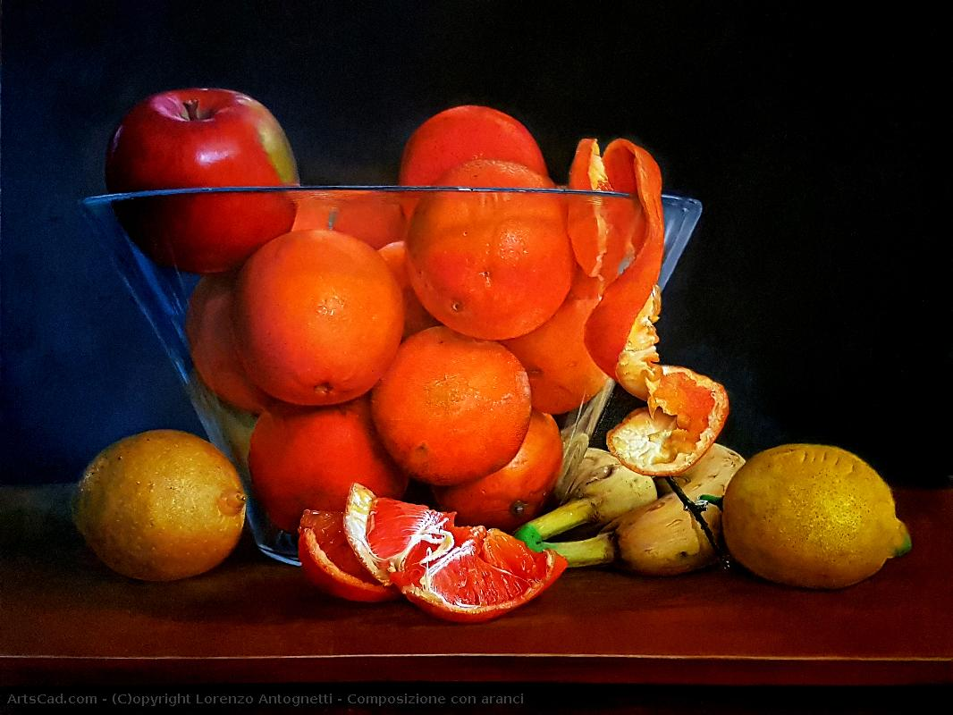 Artwork >> Lorenzo Antognetti >> composition with Oranges