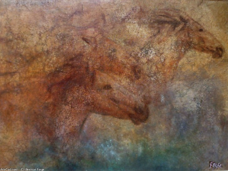 Artwork >> Beatrice Farge >> horses of the  south