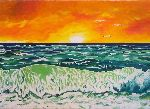 Stefka Hristova - sea at  sunfall
