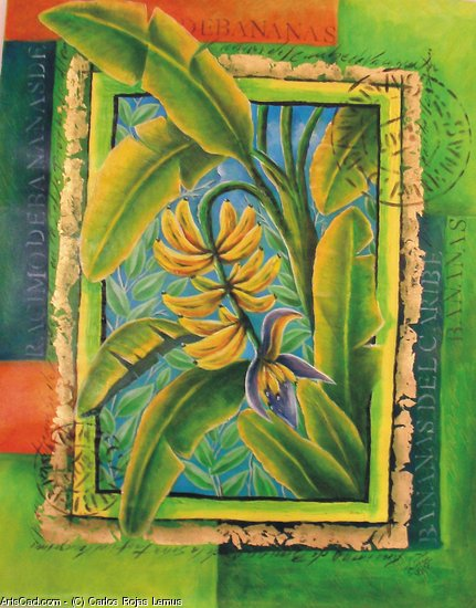 Artwork >> Carlos Rojas Lemus >> Bananas in flower