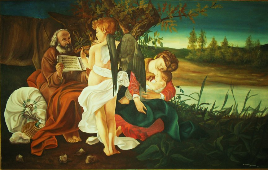Artwork >> De Tommaso Salvatore >> Flight into Egypt
