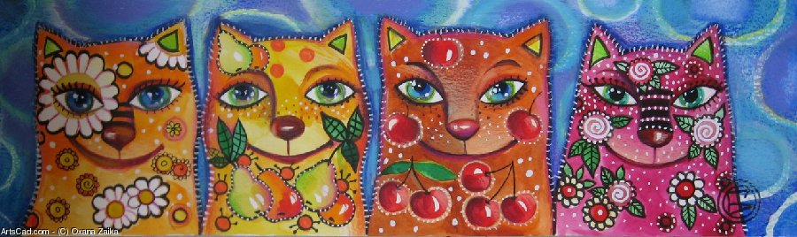 Artwork >> Oxana Zaika >> four brothers  SOLD.