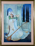 Classical Indian Art Gallery - LADY WITH VEENA