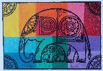 Anil Peiris - Colourful Elephant