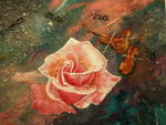 Eliane Vieil - Rose on violin