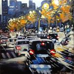 Pierre Vanmansart - - TRAFFIC - The paris . Avenue Charles the de gaulle , towards the defense .