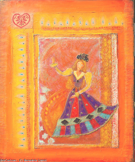 Artwork >> Bernadette Lopicki >> The dancer gypsy