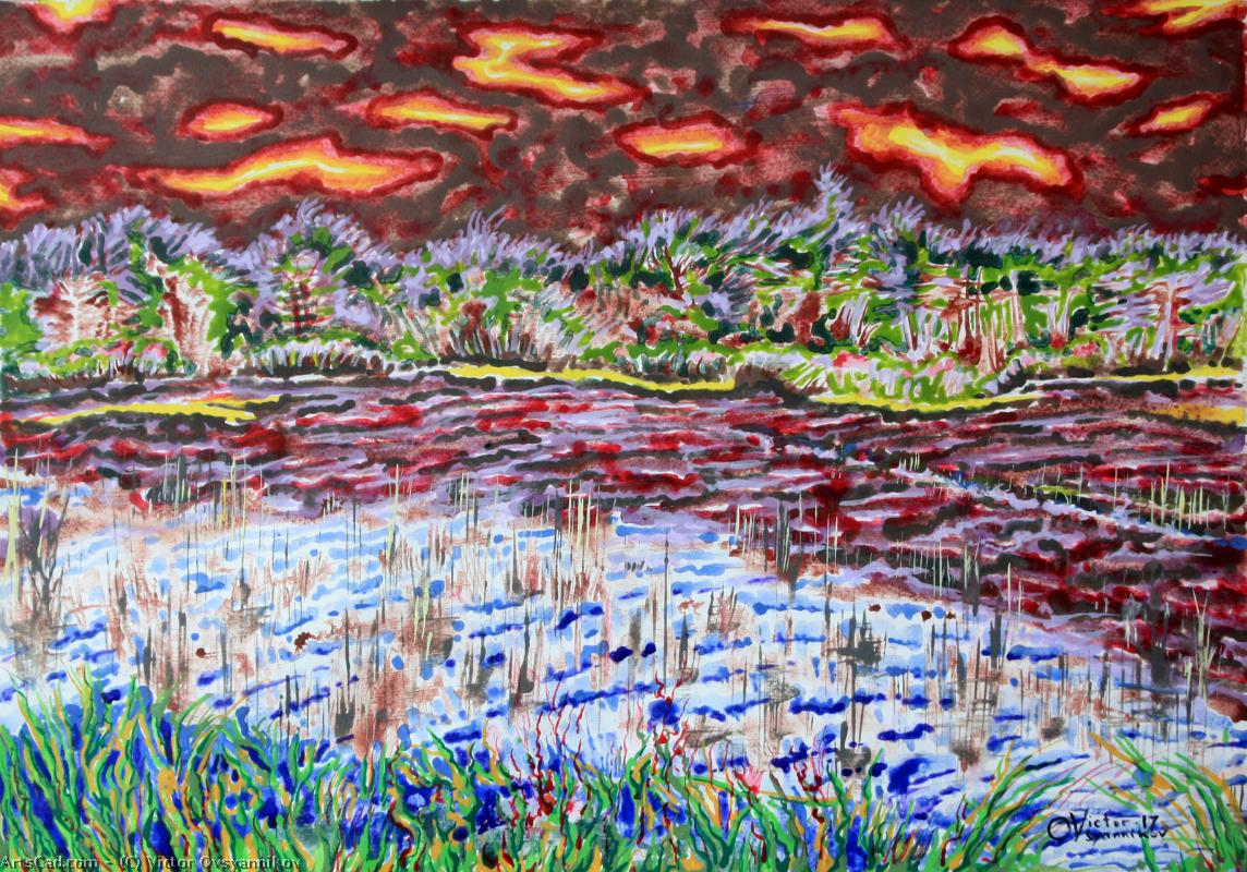 Artwork >> Victor Ovsyannikov >> Lakes and swamps ( 2 )