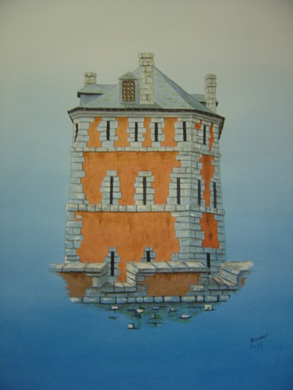 Artwork >> Barbot Noël >> The tower Vauban in Camaret / Wed