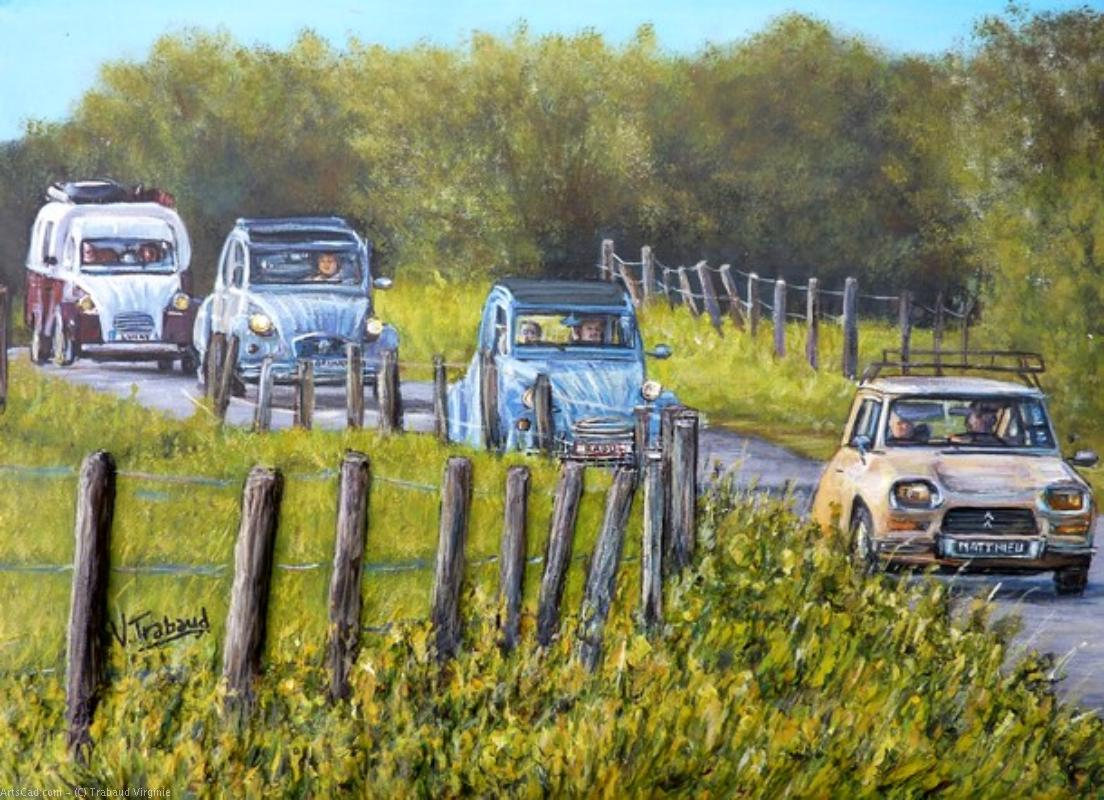 Artwork >> Trabaud Virginie >> Encountered 2cv at halloy