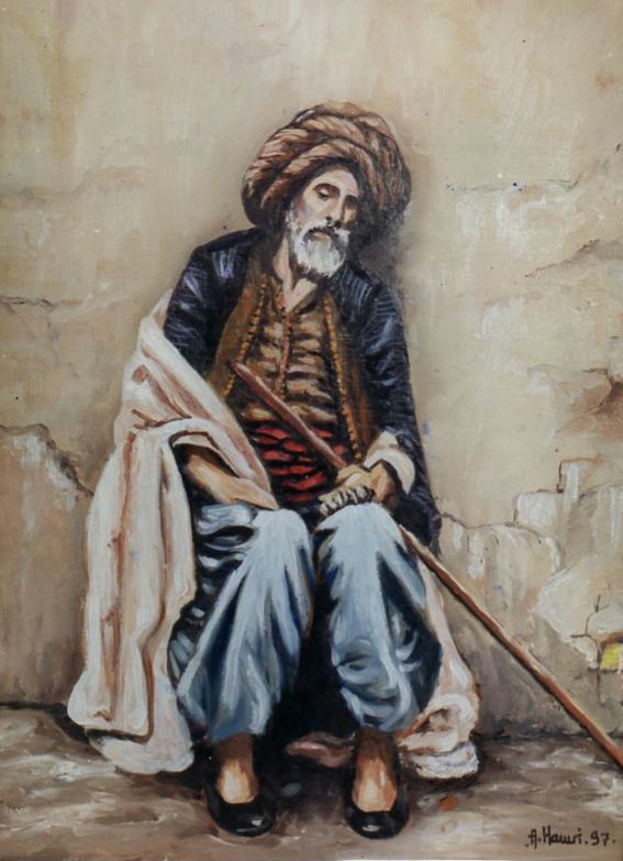 Artwork >> Mes Peintures Orientalistes >> The old Turk d'Alger