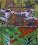 Ahmedov Zakir - 17 . Cafe 2013year21x17inOriginal painting oil on canvas 3500$