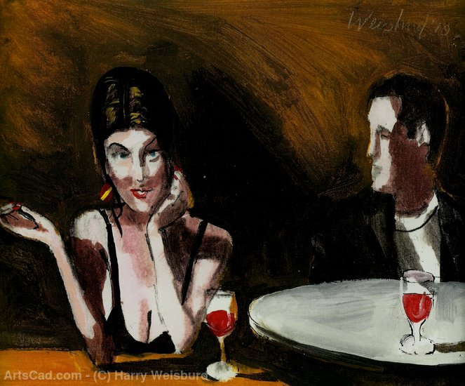 Artwork >> Harry Weisburd >> Cocktails for 2