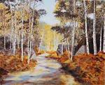 Jean-Claude Selles Brotons - Birch Forest up in  fall
