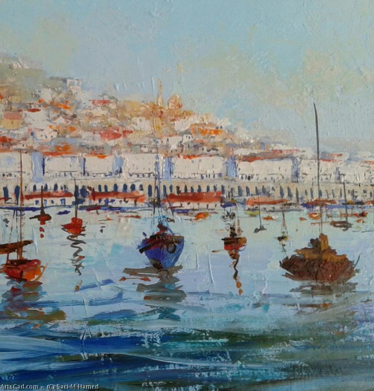 Artwork >> Saci M Hamed >> Harbor d'Alger